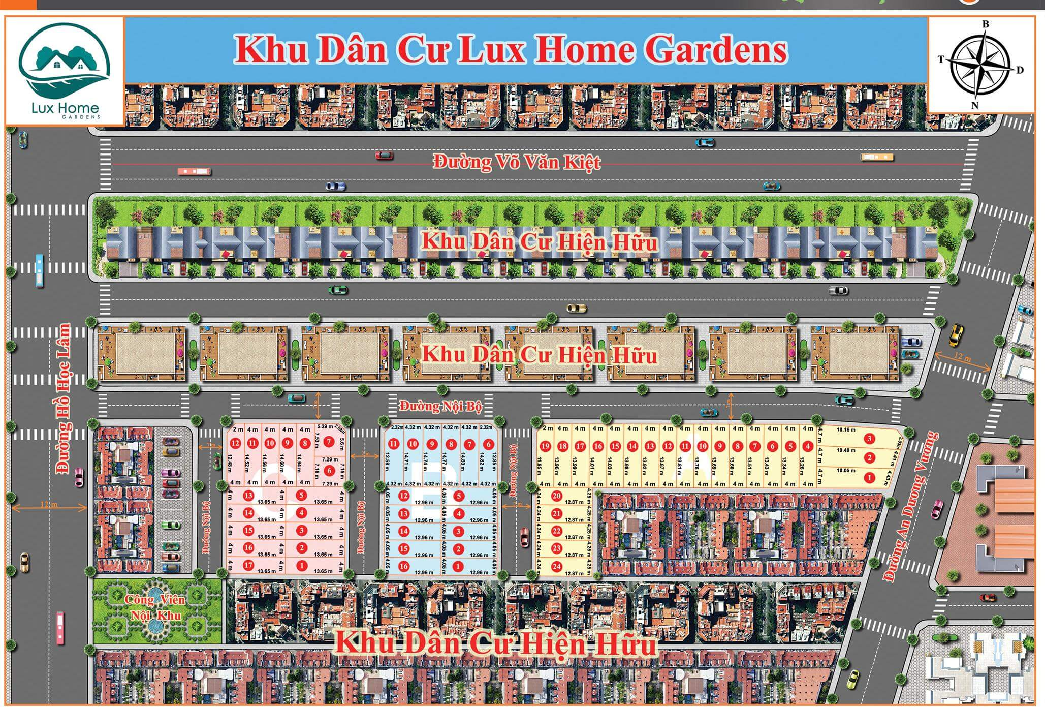 nha pho lux home gardens